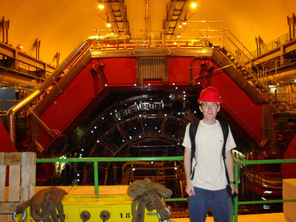 My 19 year old self at the ALICE detector.